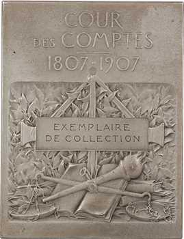 Vernon (F.) : Centenaire de la Cour des Comptes, 1907 Paris