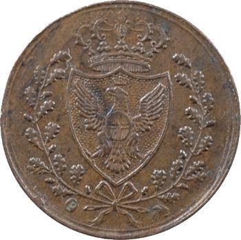 Italie, Savoie-Sardaigne, Charles-Félix, 1 centesimo, 1826 Turin