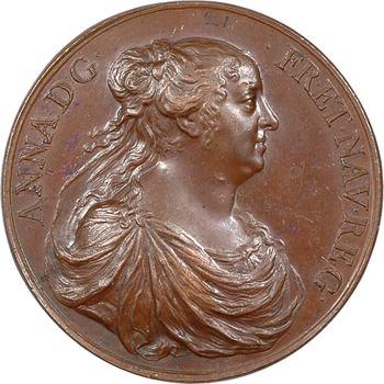 Louis XIV et Anne d'Autriche, par Jean Warin, s.d. (frappe postérieure) Paris