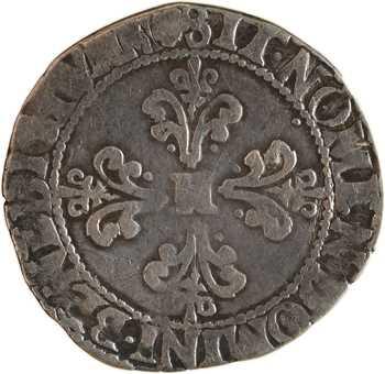 Henri III (sous la Ligue), quart de franc au col plat, 1590 Toulouse