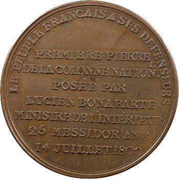 Consulat, pose de la première pierre de la colonne Nationale, 1800 Paris