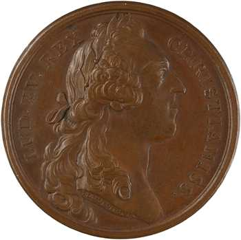 Louis XV, pose de la première pierre de la statue équestre de Louis XV à Paris, 1754 Paris