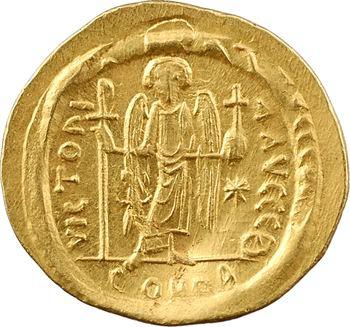 Justinien Ier, solidus, Constantinople, 9e officine, 527-565