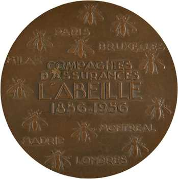 IVe République, centenaire de la Compagnie d'assurances L'Abeille, par Delamarre, 1856-1956 Paris