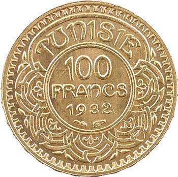 Tunisie (Protectorat français), Ahmed, 100 francs or, AH 1351 (1932) Paris