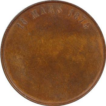 Napoléon IV, médaille pour sa majorité, 16 mars 1874