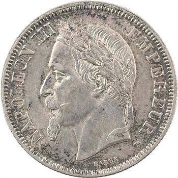 Second Empire, 2 francs tête laurée, 1869 Strasbourg