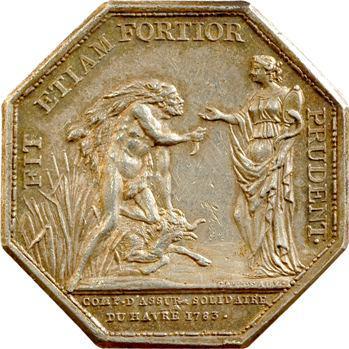 Normandie, Le Havre, Compagnie d'Assurance Solidaire par Gatteaux, 1783 Paris