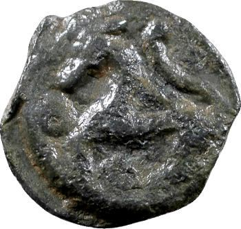 Sénons, potin dit «à la tête d'indien», 52-40 av. J.-C.