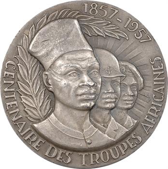 IVe République, Centenaire des troupes africaines, 1957 Paris