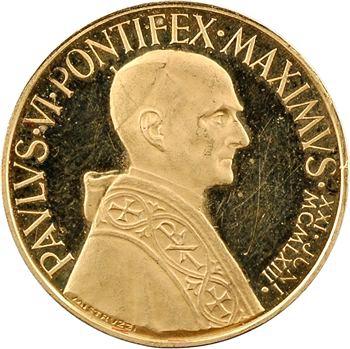 Vatican, Paul VI, médaille or au module du ducat, 1963 Rome