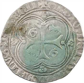 Béarn (seigneurie de), Gaston de Grailly, blanc aux quadrilobes et rosettes