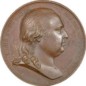 Louis XVIII, entrée du Roi à Paris par Andrieu, 1814 Paris