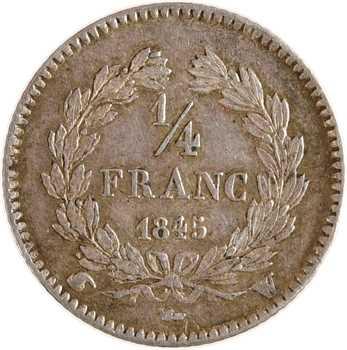 Louis-Philippe Ier, 1/4 franc, 1845 Lille