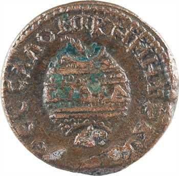 Macédoine, Thessalonique, Salonine, bronze AE23, Jeux Pythiens, 254-268
