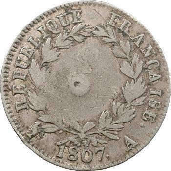 Premier Empire, 2 francs tête de nègre, 1807 Paris