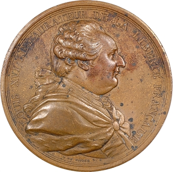 Louis XVI, abandon des privilèges, par Duvivier, 1789 Paris