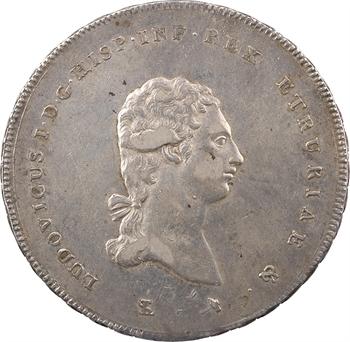 Italie, Étrurie (royaume d'), Louis Ier, écu ou francescone, 1803 Florence