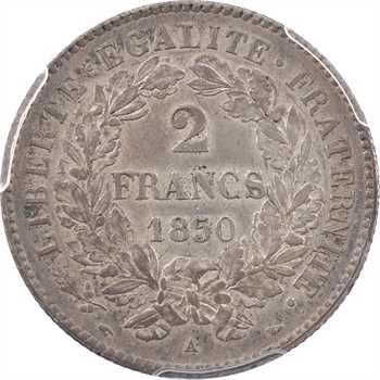 IIe République, 2 francs Cérès, 1850 Paris, PCGS AU58