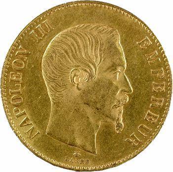 Second Empire, 100 francs tête nue, 1858 Strasbourg