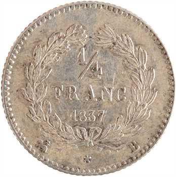Louis-Philippe Ier, 1/4 franc, 1837 Rouen