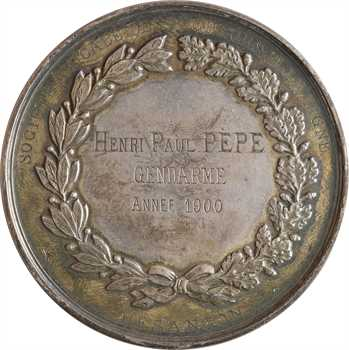 IIIe République, la Société Amicale des Pêcheurs à la ligne de Besançon au gendarme Henri Paul Pèpe, 1900 Paris