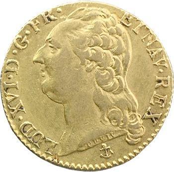 Louis XVI, louis d'or à la tête nue, 1789 La Rochelle