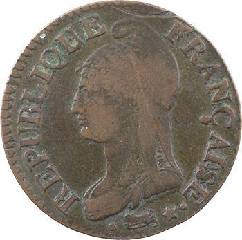 Directoire, cinq centimes Dupré, An 6/5 Paris (coq/corne ?)