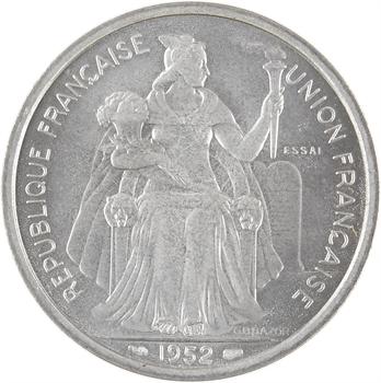 Nouvelle-Calédonie, essai de 5 francs, 1952 Paris (sous boîtier)