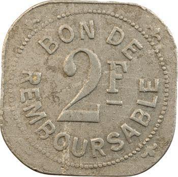 Comores, Société anonyme de la Grande Comore, 2 francs, s.d. (1915)