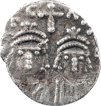 Héraclius et Héraclius Constantin, demi-silique, c.613-617 Carthage