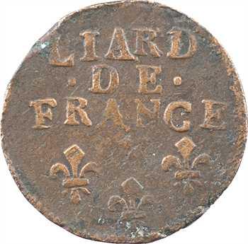 Louis XIV, liard de cuivre, 3e type, 1698 Troyes