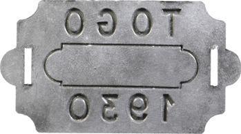 Togo, plaque de taxe, 1930