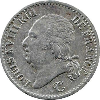 Louis XVIII, 1/4 de franc, 1818 Rouen