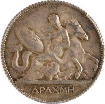 Grèce (Royaume de), Georges Ier, drachme, 1910 Paris, PCGS MS62