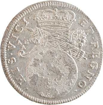 Italie, Naples, Charles II, Tari ou 2 carlini, 1684 Naples