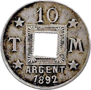 IIIe République, essai de 10 centimes, 1892 Paris