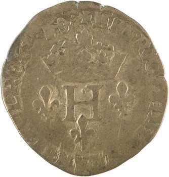 Henri III, double sol parisis, 2e type, 15[81?] Dijon