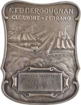 Brangier (R.) : prix de Gymkana offert par le Pneu Bergougnan, dans sa boîte, 1913