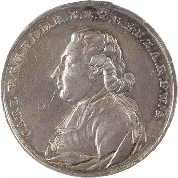 Allemagne, le prince primat Karl von Dalberg proclamé à Francfort, 1807