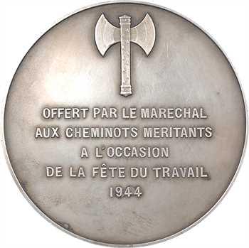 IIe Guerre Mondiale, cadeau du maréchal Pétain aux cheminots, par Lavrillier, 1944 Paris