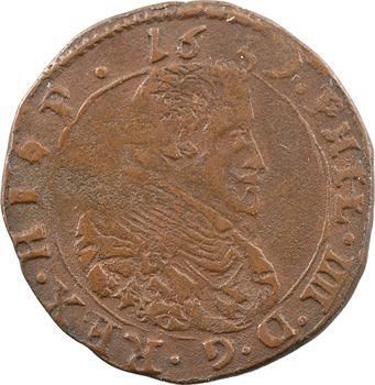 Artois (comté d'), Philippe IV, liard, 1639 Arras