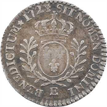 Louis XV, vingtième d'écu aux rameaux d'olivier, 1728/7 Tours