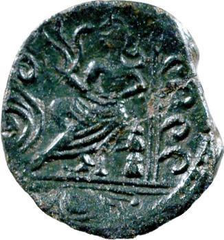 Carnutes, bronze à la déesse assise, classe V, c.40-30 av. J.-C.