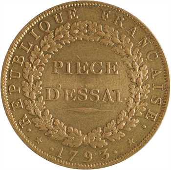 Convention, essai au module de 2 sols, 1793 Paris