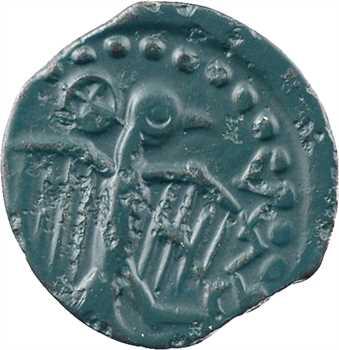 Sénons, bronze à l'aigle et au profil géométrique (6 mèches), Ier s. av. J.-C.