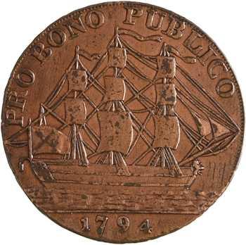 Royaume-Uni, Hampshire, Gosport, halfpenny token, 1794