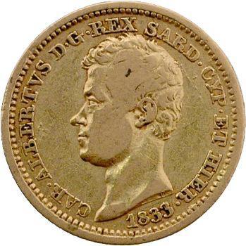 Italie, Charles-Albert, 10 lire, 1833 Gênes