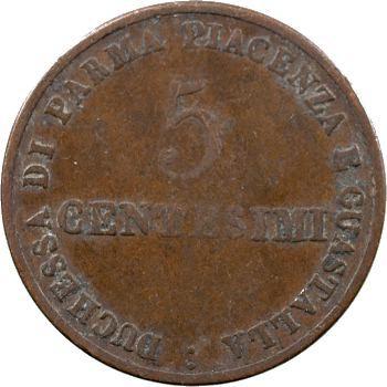 Italie, Parme (duché de), Marie-Louise, 5 centesimi, 1830 Milan
