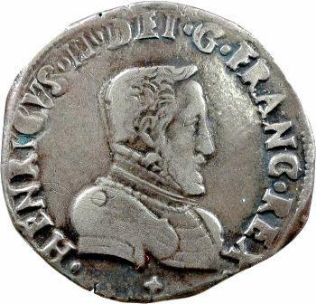 Charles IX, teston du Dauphiné au nom d'Henri II, 1561 Grenoble